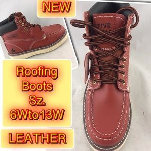 Other - Roofing full Grain Leather moc Toe Men's boots